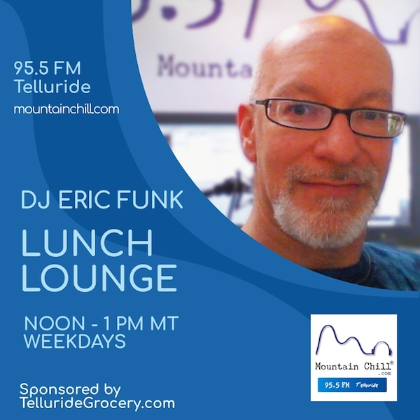 Picture of DJ Eric Funk, host of the Lunch Lounge.