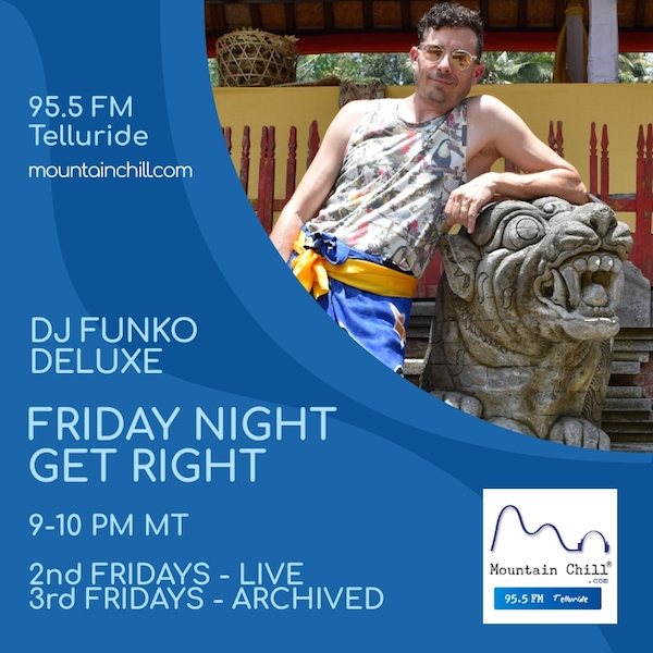 Picture of DJ Funko Deluxe, host of the Friday Night Get Right.